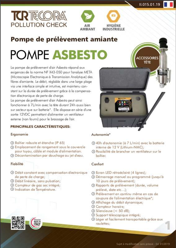 Scheda Tecnica Pompe Asbesto