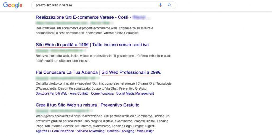 Prezzo Sito Web Varese
