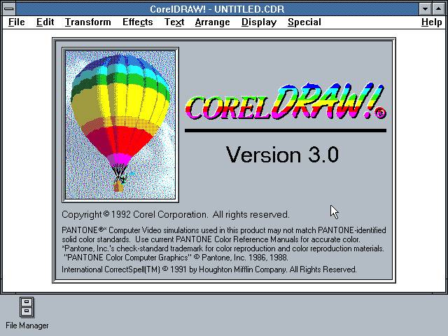 Corel Draw 3 1992