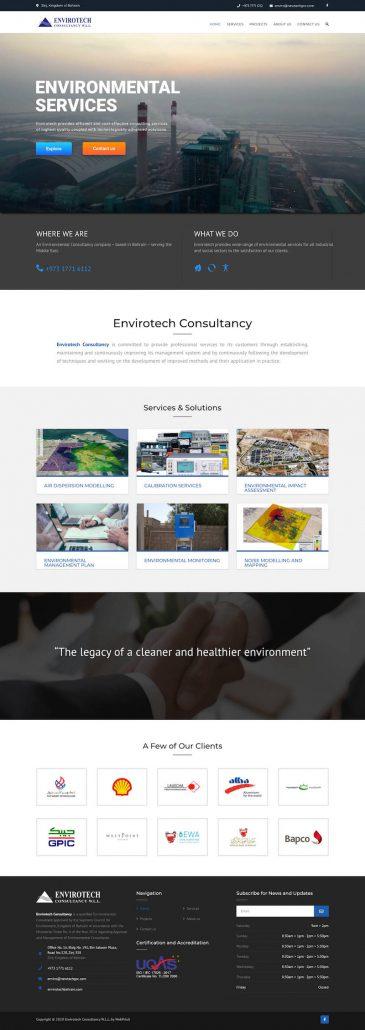 Website Envirotech Bahrain by WebPriuli
