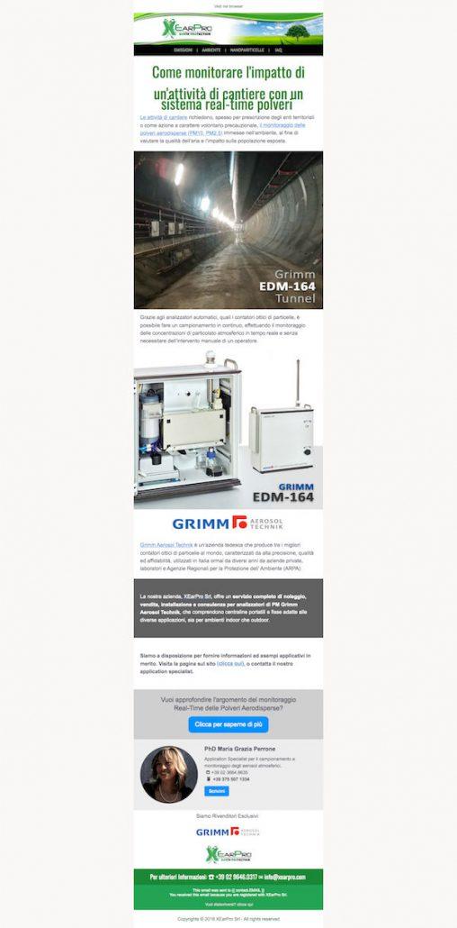 Email Marketing Campaign Cantiere XEarPro, WebPriuli