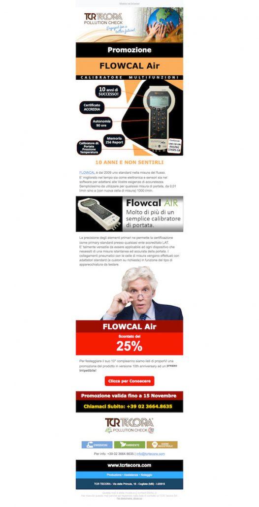 Email Marketing Campaign FlowCal Air TCR Tecora, WebPriuli