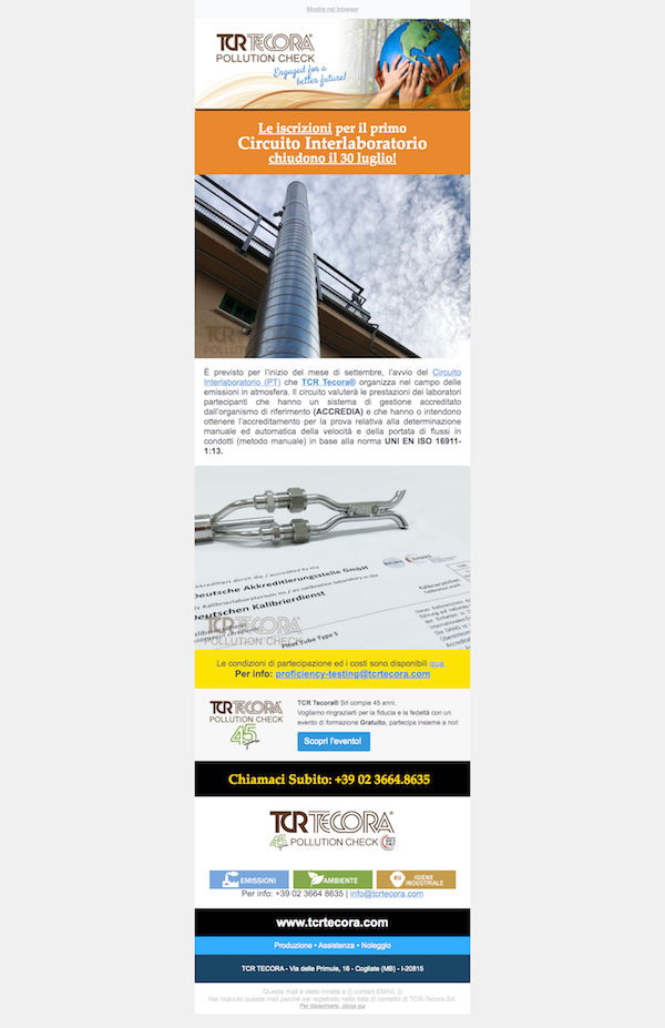 Email Marketing Campaign Training Center TCR Tecora, WebPriuli