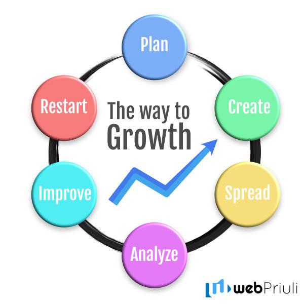 Digital Marketing Growth Cicle WebPriuli